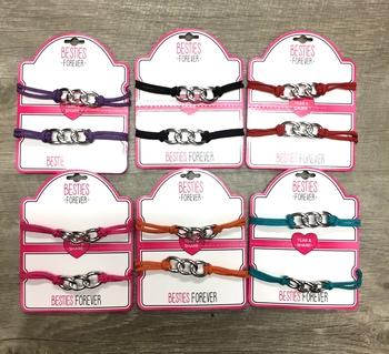 Image Tear & Share Suede Links Bracelet Set