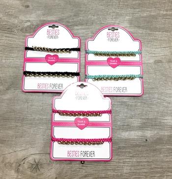 Image Tear & Share Macreme Chain Bracelet Set