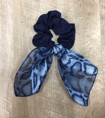Image Long Scarf Tie Scrunchies