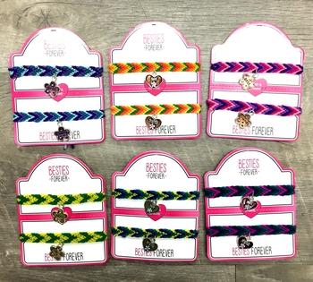 Image Tear & Share Woven Tie BFF Bracelets