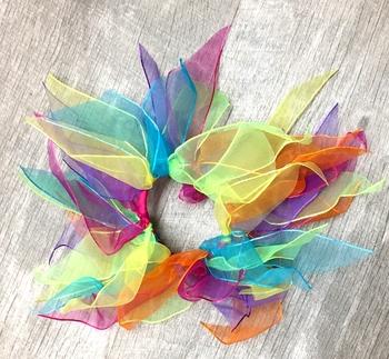 Image Rainbow Chiffon Scrunchie
