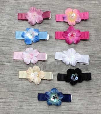 Image Velvet Flower Sequin Clippie
