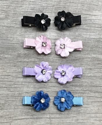Image Velvet Flower Clippie Pair