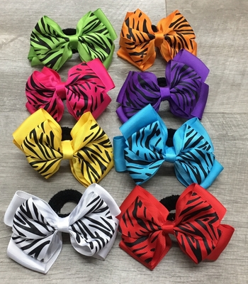 Image Zebra Neon Bow Pony