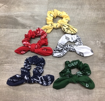Image Bandana Tie Scrunchies Camp Colors
