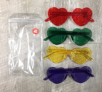 Image Heart Camp Colors Sunglasses
