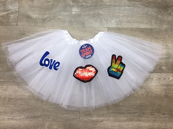 Image Peace & Love Tutu