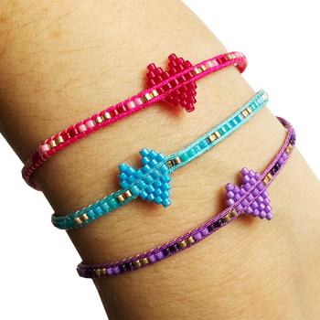 Image Beaded Heart Pulltie Bracelet Fashion
