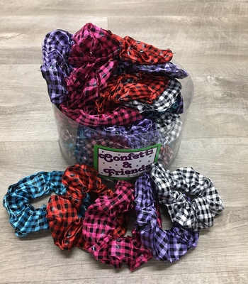 Image Gingham Scrunchie