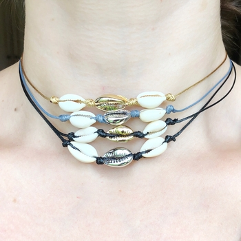 Image Metallic Shell Choker