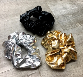 Image Metallic Plain Scrunchie