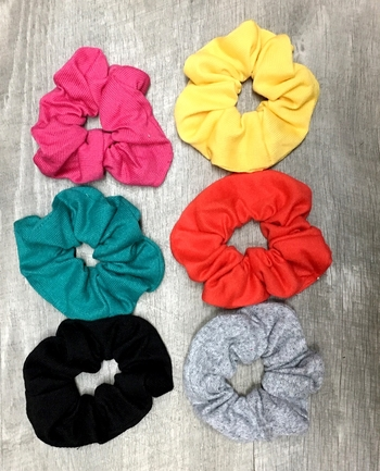 Image Jersey Fall Scrunchies
