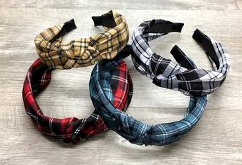 Image Plaid Knot Headband