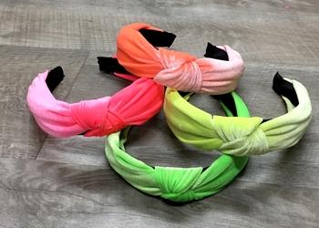 Image Neon Velvet Knot Headband