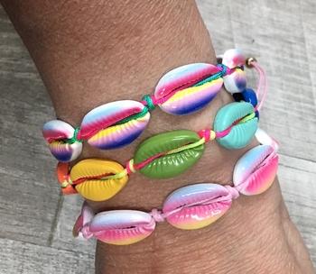 Image Rainbow Multi Shell Bracelets