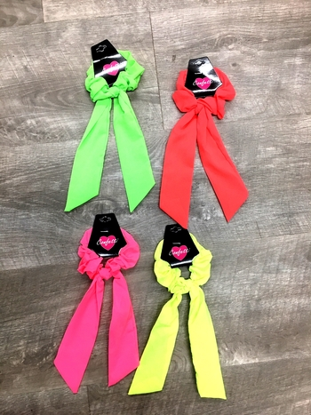 Image Neon Chiffon Scrunchie with Tails