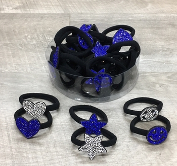 Image Rhinestone Shape Ponys in Blue & White