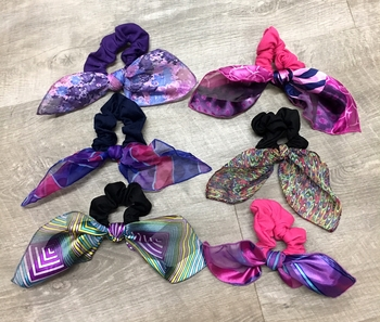 Image Long Scarf Geometric Tie Scrunchies