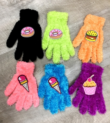 Image Junk food Fuzzy Gloves