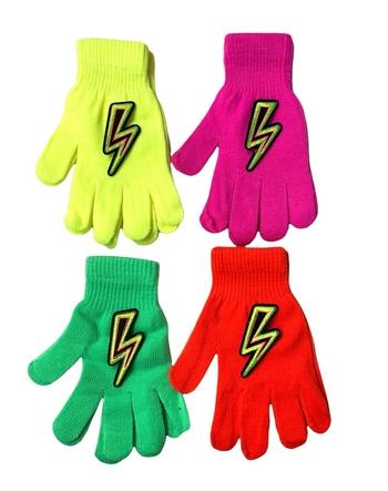 Image Neon Lightening Bolt Gloves