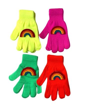 Image Rainbow Neon Gloves