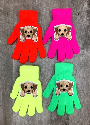 Image Puppy Neon Gloves