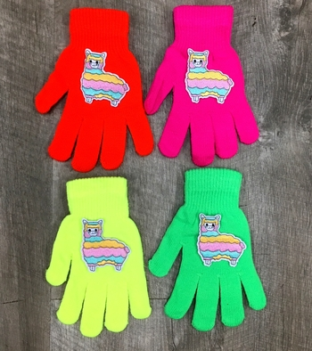 Image LLama Neon Gloves
