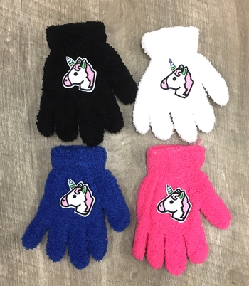 Image Child Size Unicorn Gloves