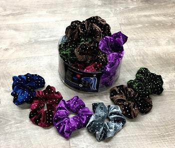 Image Studded Velvet Scrunchie