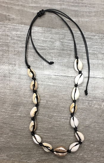 Image Shell Necklace with Gold shell