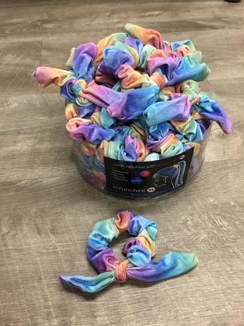 Image Velvet Tie Dye Bow Scrunchie