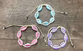 Image Pastel Shell Pull Tie Bracelet