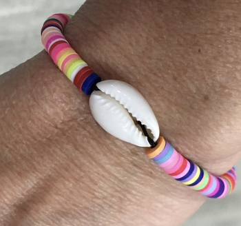Image Cowrie & Rainbow Shell Bracelet