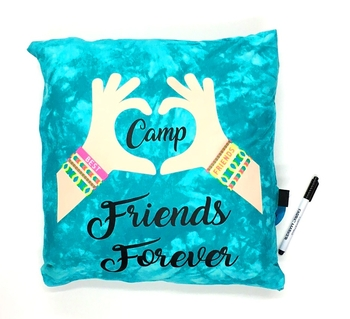 Image Camp Friends Forever Friendship Autograph Pillow