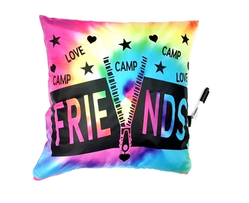 Image Camp Friends Zip Up Autograph Pillow
