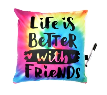 Image Life is Better with Friends Autograph Pillow