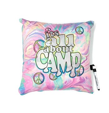 Image It's All About Camp Autograph Pillow