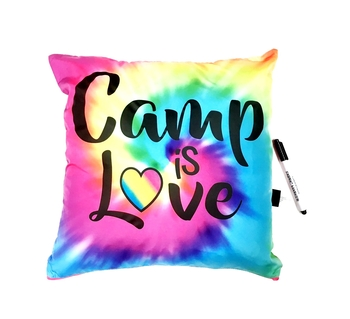 Image Camp is Love Rainbow Autograph Pillow
