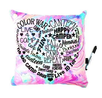 Image Camp Heart Graffiti Autograph Pillow