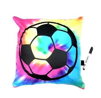 Image Tye Dye Soccer Autograph Pillow
