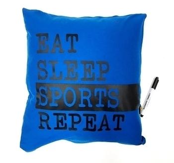 Image Eat Sleep Sports Repeat Autograph Pillow