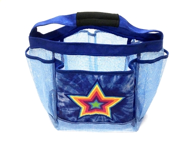 Image Tye Dye Blue Star Shower Caddy