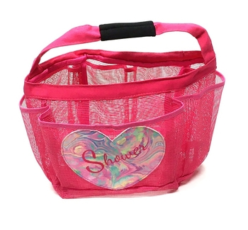 Image Marble Heart Camp Shower Caddy