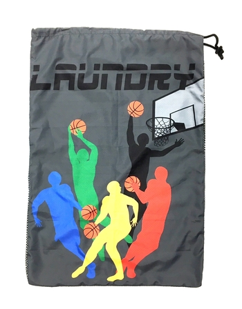Image Basket Ball Team Mesh Laundry Bag