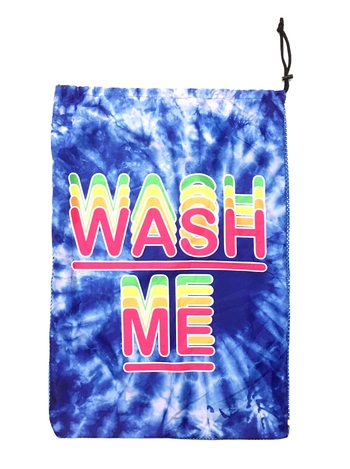 Image Blue Tye Dye Wash Me Mesh Laundry Bag