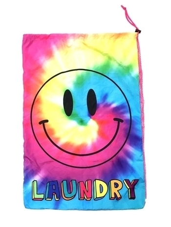 Image Rainbow Smile Tye Dye Mesh Laundry Bag