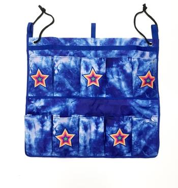 Image Blue Tye Dye Star Canvas Shoebag
