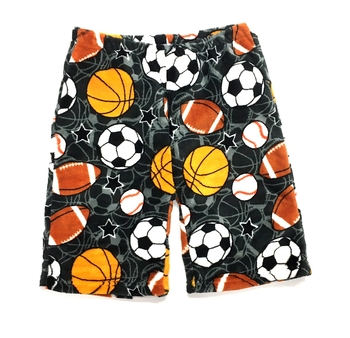 Image Grey Sports Fuzzy Pajama Boy Shorts