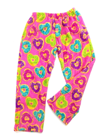 Image Heart Donut Fuzzie Pants