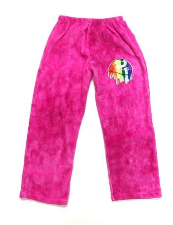Image Pink Tie Dye Fuzzie Pants Dripping Lips